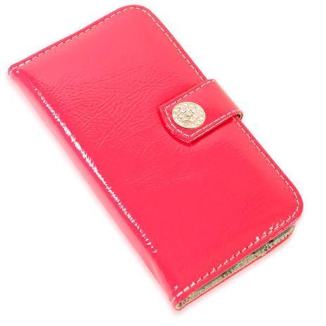 Imagem de Capa carteira couro strass verniz pink samsung j7 prime g610