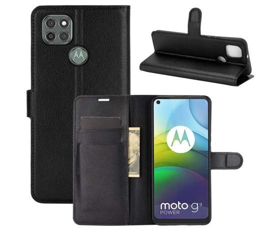 Imagem de Capa Carteira (PRETA) Flip Antishock Porta Cartão Motorola Moto G9 Power
