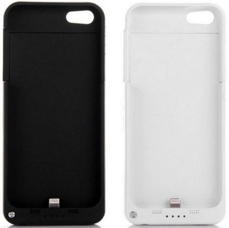 faea8874016 Capa Case Carregador Bateria Extra Para Iphone 5g 5s Externa Branca -  Importado