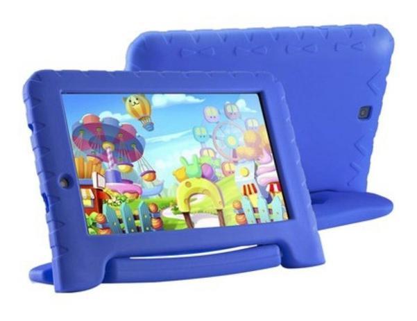 Imagem de Capa Case Emborrachado Azul Maleta Tablet M7 3g 4g M7s Plus