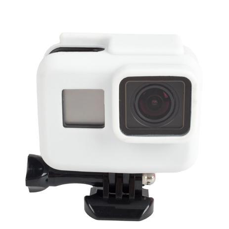ef775d890e1cc Capa Case Protetora Silicone Câmeras GoPro Hero (2018) Hero 5 Black Hero 6  Black Hero 7 Black Cor Branco - Shoot