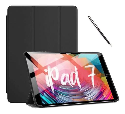 Imagem de Capa Case Smart Ipad 7 10.2 Preta + caneta touch