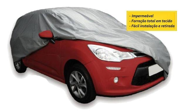 Imagem de Capa Cobrir Auto Forro Total Impermeável Tam P Vw Fox Up Gol Fusca Polo