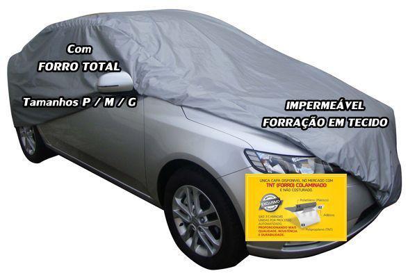 e2b408cc927 Capa Cobrir Auto Impermeável Forro Total Tamanho G - Carrhel - Capa ...