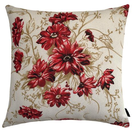 c96bb1327622d8 Capa de Almofada Firenze Floral 40x40cm Vermelha - Ecaza
