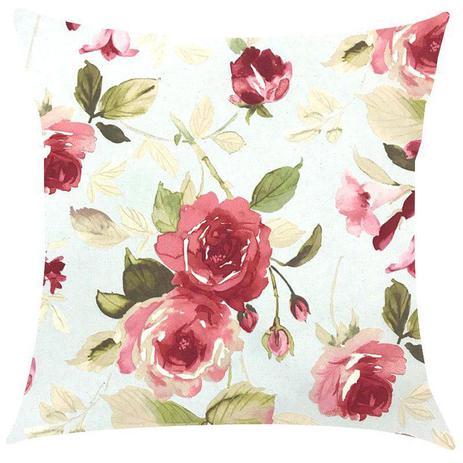 db4ec15b70f3ef Capa de Almofada Floral Vermelho Impermeável 43x43cm - Sua casa decor