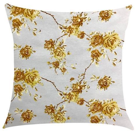 bbfb55b731297e Capa de Almofada Impermeável Acqua Linea Amarelo Floral 45x45cm - Sua casa  decor