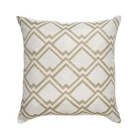 Imagem de Capa de Almofada para Sofá Geométrico Bege e Branco