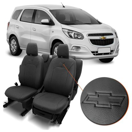 Capa De Banco De Couro Ecológico Chevrolet Spin 2012 A 2019 Automotiva  Grafite 12 Peças - Prime 31172a35e2
