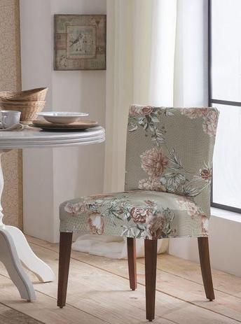 Imagem de Capa de Cadeira Malha Suplex - Cor Dália - Kit 6 Capas