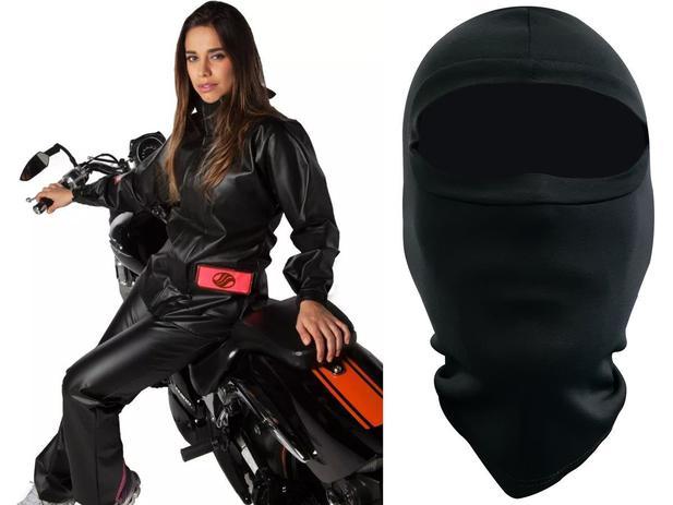 Imagem de Capa de Chuva Feminina Alba Europa PVC Motociclista + Balaclava