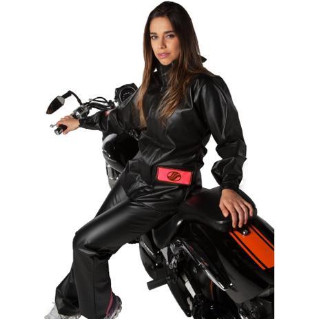Imagem de Capa de Chuva Feminina Alba Europa PVC Motociclista
