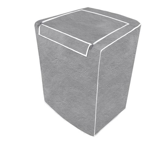 Imagem de Capa de máquina de lavar - Cinza Com Abertura Superior - M