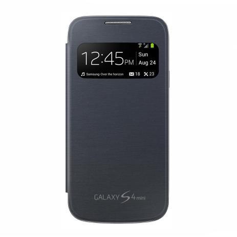 9b6c10dcd Capa Flip S-view Samsung Galaxy S4 Mini I9190 I9192 I9195 - Preta ...