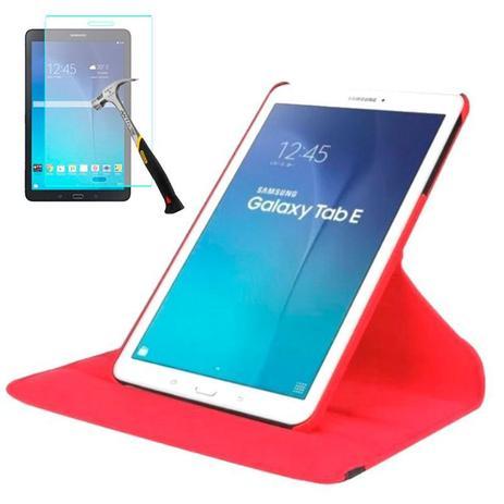 "ade85fa95 Capa Giratória Para Tablet Samsung Galaxy Tab E 9.6"" SM-T560   T561   P560    P561 + Película de Vidro - Lka"
