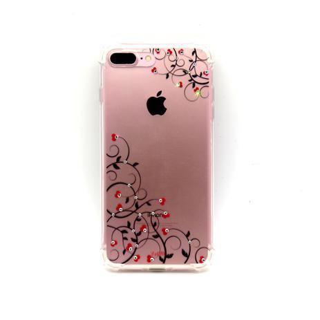 Imagem de capa iphone 7 Plus iphone 8 Plus cristal estillo anti impacto feminina arabesco coração canto