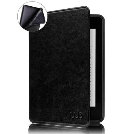 Imagem de Capa Kindle 10ª Geração WB - Auto Hibernação Sensor Magnético Couro Premium Silicone Flexível Preta