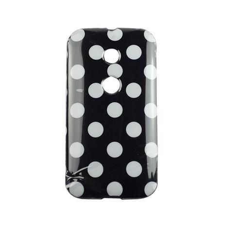 Imagem de Capa Motorola Moto E Bolinha Branco Preto - Idea
