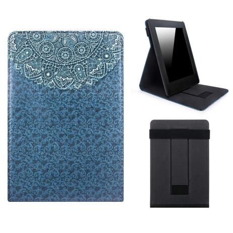 Imagem de Capa Novo Kindle Paperwhite a prova D'água WB  Premium Freedom Auto Hibernação - Mandala Azul
