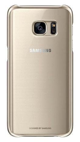 fedf05161 Capa Original Protetora Clear Cover Samsung Galaxy S7 - Dourada ...