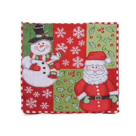 3aedc5fc09b7d4 Capa P/ Almofada Papai Noel Decoração Natal 45X45Cm Vermelha - Cromus