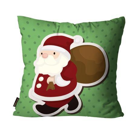 8c9cc22241ab62 Capa para Almofada Mdecore Natal Papai Noel Verde