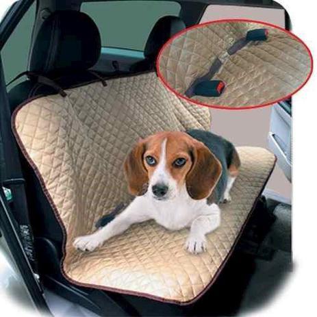 Imagem de Capa para Banco de Carro para transporte de cachorros gatos Capa Protetora de banco traseiro Chalesco