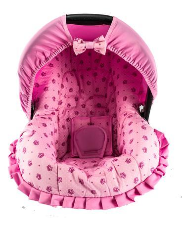 Imagem de Capa para Bebê Conforto Coroa Rosa