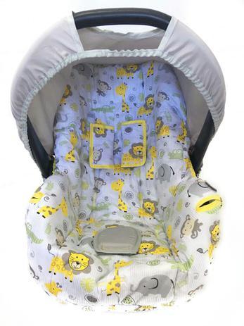 Imagem de Capa Para Bebê Conforto Multimarcas De 0 A 13 Kg Safari Amarelo