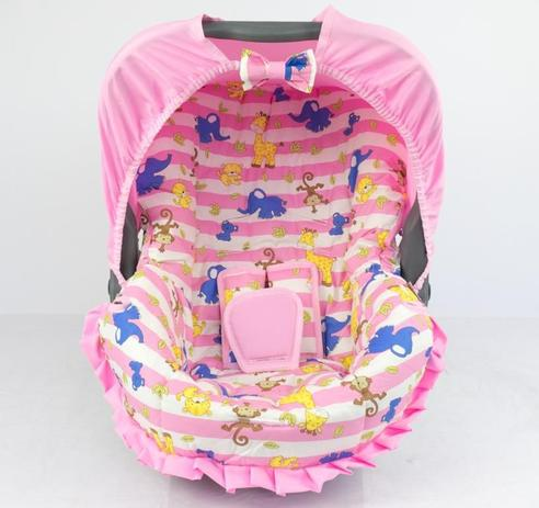 Imagem de Capa para bebe conforto - safari listrado rosa