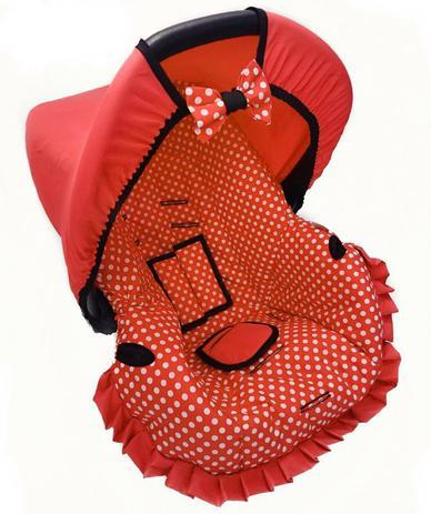 Imagem de Capa para bebe conforto - vermelho bola branca