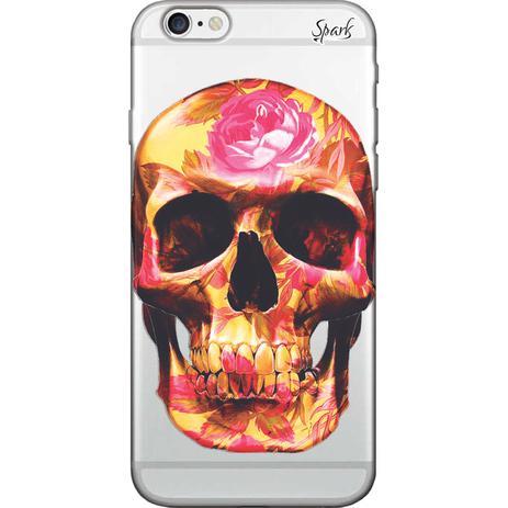 8b19203f96b Capa para Celular Samsung S10 Plus - Spark Cases - Caveira e Rosas ...