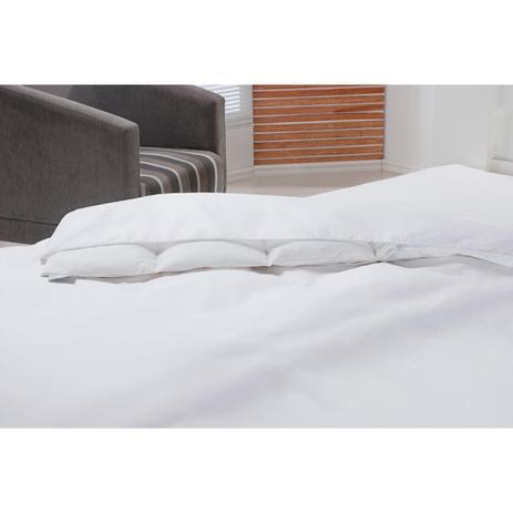 Imagem de Capa Para Edredom Solteiro 160x220cm Impermeável Branco Plumasul