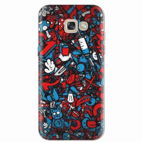 Imagem de Capa para Galaxy A7 2017 Graffiti Azul e Vermelho