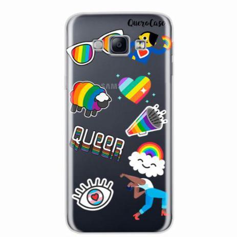 fc620b71fe0 Capa para Galaxy A8 Pride Sticker Transparente - Quero case - Capas ...