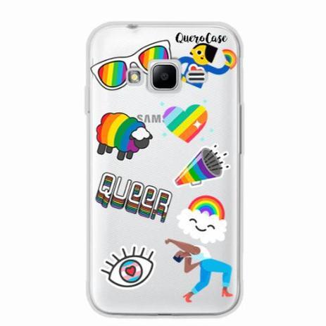 a0fca641a2a Capa para Galaxy J1 Mini Prime Pride Sticker Transparente - Quero case