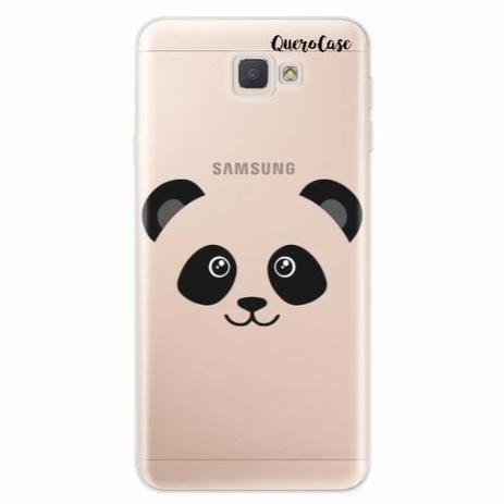 8067c321a25 Capa para Galaxy J7 Prime Panda Face Macho - Quero case - Capinha de ...