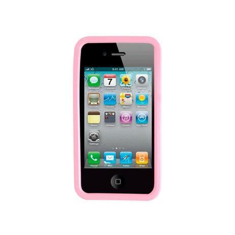1d2b9d34b18 Capa para Iphone 4 e 4S Emborrachada CA07 Rosa Claro - Unik ...