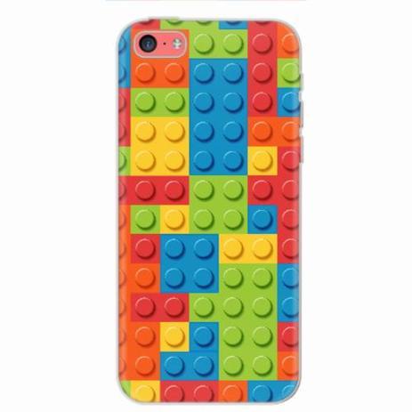 los angeles 652d7 5c241 Capa para iPhone 5C Blocos Lego 01 - Quero case