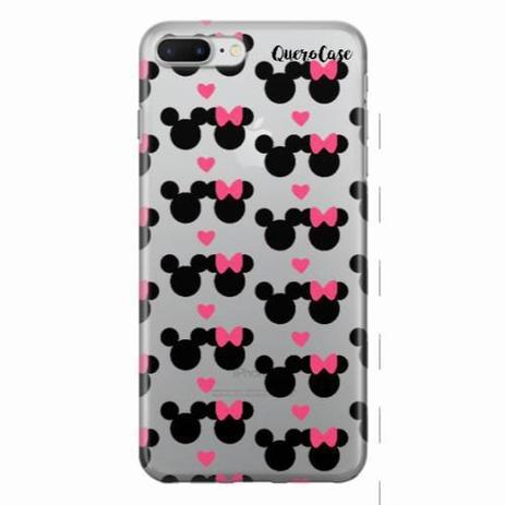 b13a3eb9ef4 Capa para iPhone 7 Plus Mickey e Minnie 05 - Quero case - Capinha de ...