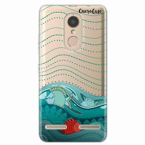 d3965a0a427 Capa para Lenovo Vibe K6 Mar é Paz - Quero case - Capinha de Celular ...