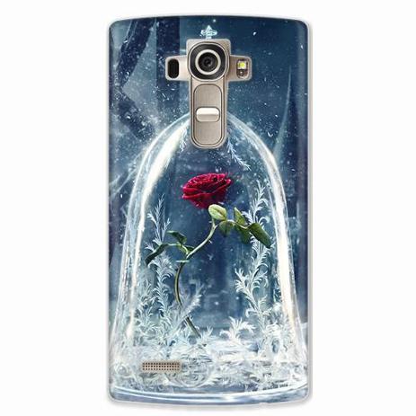Imagem de Capa para LG G4 Rosa Bela e a Fera