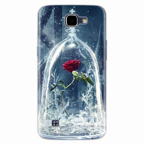 Imagem de Capa para LG K4 Rosa Bela e a Fera