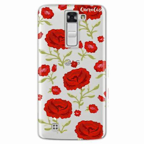 Imagem de Capa para LG K7 Rosas Vermelhas Transparente