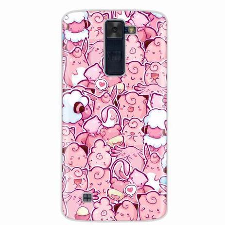 Imagem de Capa para LG K8 Pokemons Rosa