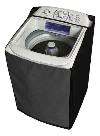 Imagem de Capa Para Máquina de Lavar Electrolux 12k 13k 15k 16k 17kg Zíper Painel Transparente