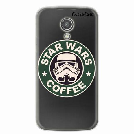 4b3daf96895 Capa para Moto G2 Star Wars Coffee Transparente - Quero case ...