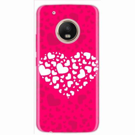 Imagem de Capa para Moto G5 Plus Coração Pink Love