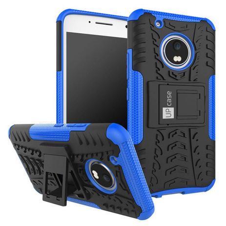 Imagem de Capa Para Moto G5 Plus Tela 5.2 Grip Anti Impacto Azul - Up Case