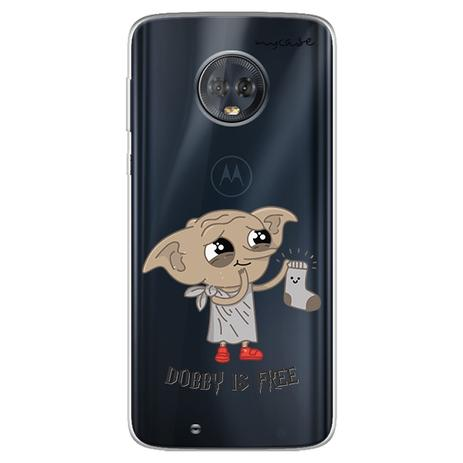 Imagem de Capa para Moto G6 Play - Harry Potter  Dobby is free